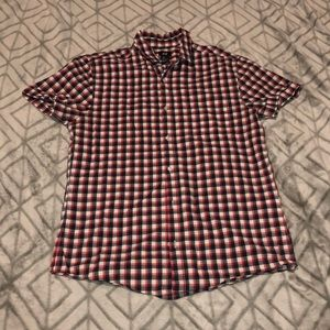 Plaid Red, Blue, and White Men's H&M Button Up